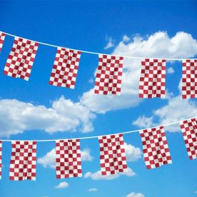 Red & White Chequered bunting