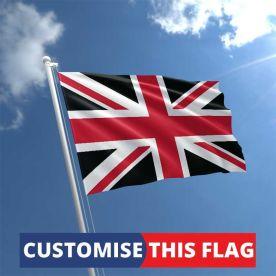 Custom Red & Black Union Jack Flag