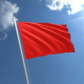 Plain Red Flag - Nylon