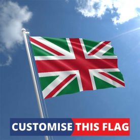 Custom Red & Green Union Jack Flag