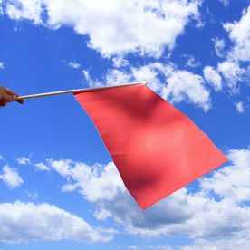 Red Hand Waving Flag