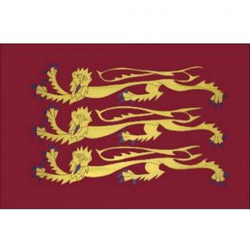 Old England Historic, Three Lions, (Richard The Lionheart) Flag - 8Ft X 5Ft