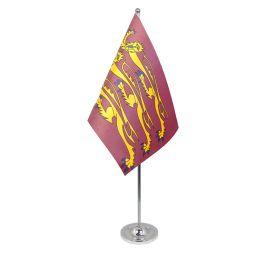 Richard the lionheart table flag satin