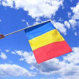 Romania Hand Waving Flag