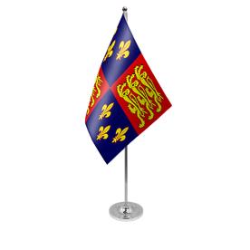 Royal banner 16th century table flag satin