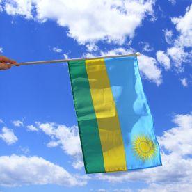Rwanda Hand Waving Flag