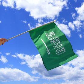 Saudi Arabia Hand Waving Flag