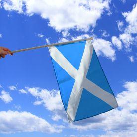 St Andrew Hand Waving Flag