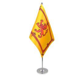 Lion Rampant table flag satin