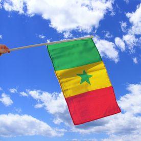 Senegal Hand Waving Flag
