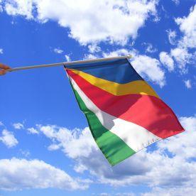 Seychelles Hand Waving Flag