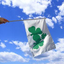 Shamrock Hand Flag