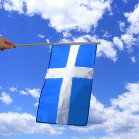 Shetland Islands Hand Waving Flag