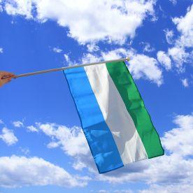 Sierra Leone Hand Waving Flag