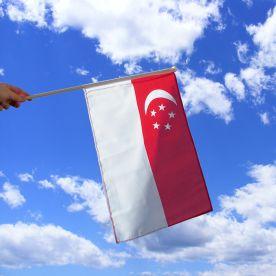 Singapore Hand Waving Flag