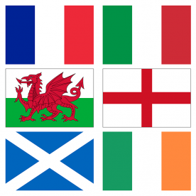 Six Nations Rugby Flags