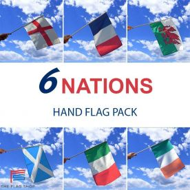 Six Nations Rugby Hand Flags Pack