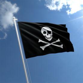 small Skull & Crossbones Flag Rope & Toggle