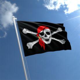 Skull With Bandana Pirate Flag
