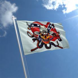 Confederate With Snake Pirate Flag