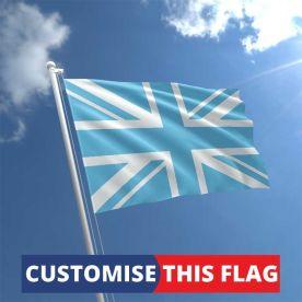Custom Sky Blue Union Jack Flag