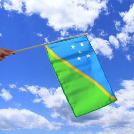 Solomon Islands Hand Waving Flag