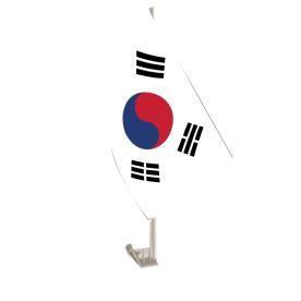 South Korea Car Flag