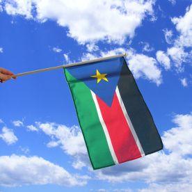South Sudan Hand Waving Flag