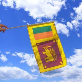 Sri Lanka Hand Waving Flag