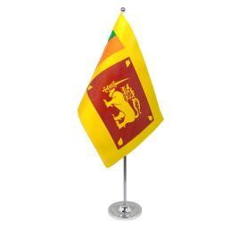 Sri Lanka table flag satin