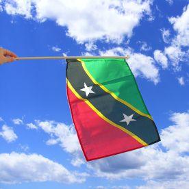 St Kitts & Nevis Hand Waving Flag