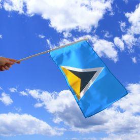 St Lucia Hand Waving Flag