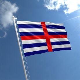 Blue/White Striped Ensign Flag
