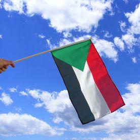Sudan Hand Waving Flag