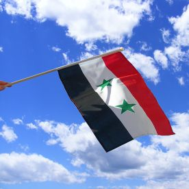 Syria Hand Waving Flag