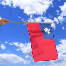 Taiwan Hand Waving Flag