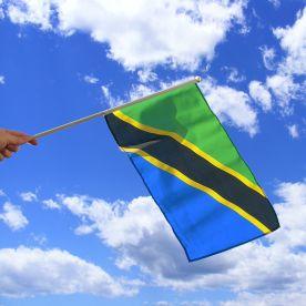 Tanzania Hand Waving Flag
