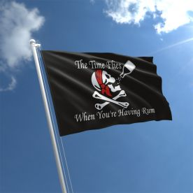Time Flies When You're Having Rum Flag