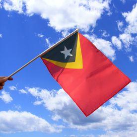 East Timor Hand Waving Flag