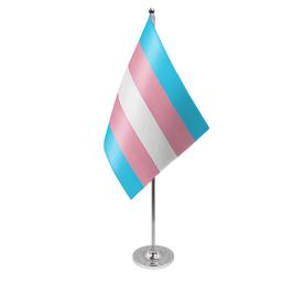 Transgender table flag satin