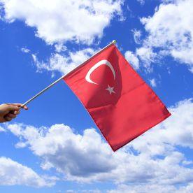 Turkey Hand Waving Flag