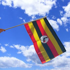 Uganda Hand Waving Flag