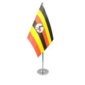 Uganda table flag satin