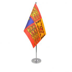 UK Royal standard table flag satin