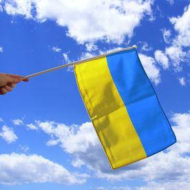 Ukraine Hand Waving Flag