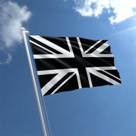 Black Union Jack flag
