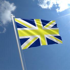 Union Jack Blue & Yellow Flag