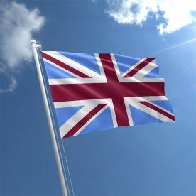 Union Jack Claret & Blue Flag