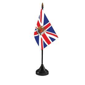 Union Jack Crest Table Flag