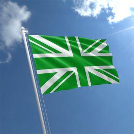 Green Union Jack flag